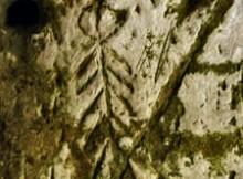 Etching on the wall of the mulino rupestre - pretoro