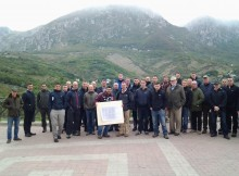 The 4 PARA, led by Lt Col Timms MC, CO 4 PARA, with Major Hargreaves MC and historian Francesco Di Cintio at Palombaro (conquered by Lt Paddy Deacon on 6th December 1943)