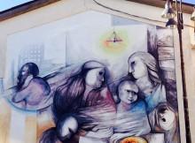 Murales a Scontrone - abruzzo -italia