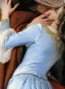 Francesco Hayez: il bacio dettaglio