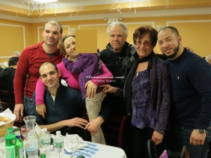 Anthony Carullo (raffle winner), Mamma di Iaia, Iaia, Tony Ferrari, President del Orsogna MAS, Sarah Tenaglia, Chair of Women's Committee, Rocco Giambrone (raffle winner), seated, Papa di Iaia.