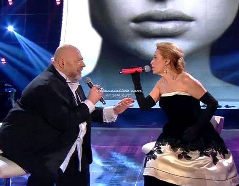 Sanremo: Grazia e Mauro sul palco.