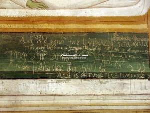 Loreto Aprutino - Santa Maria della Pietà - graffito del 1553