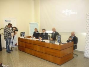 da sinistra: Emidio Isidoro, componente Cda Saga, Igor Asciutto, direttore commerciale Balkan Express, Nicola Mattoscio, presidente Saga