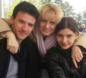 Enrica Filippi con i figli