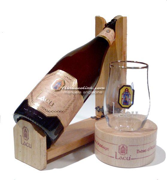Birra Lacu - il bicchiere con fondo in legno