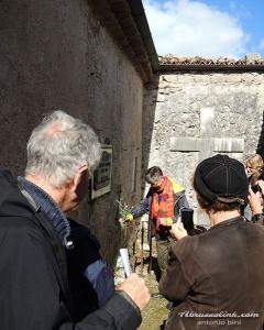 Civita D'Antino -  Anders Trulson visita al cimitero