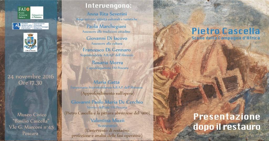 Pietro Cascella - presentazione dopo il restauro