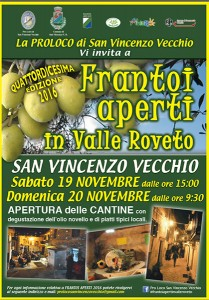 Frantoi Aperti 2016 Valle Roveto